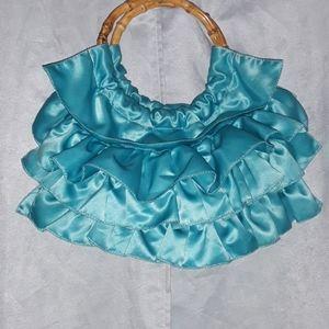 Kathy Van Zeeland silk Ruffled bag